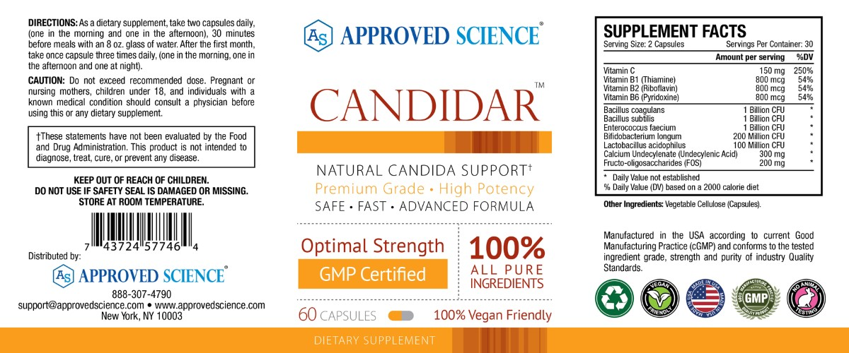 Candidar Supplement Facts